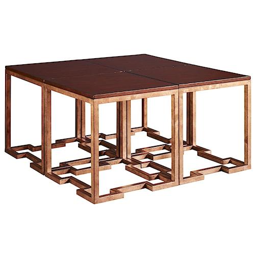 Fine Furniture Design Cachet 4 Part Square Coffee Table