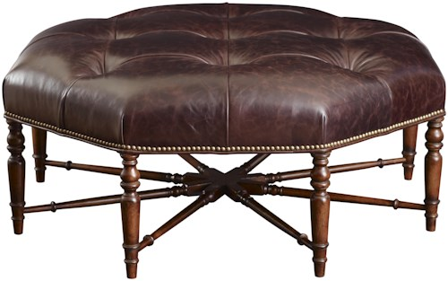 Fine Furniture Design Cachet Cocktail Ottoman w/ Tufted Upholstery
