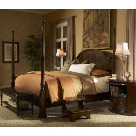 Queen Traditional Poster Bed