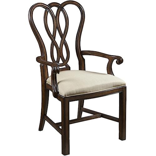 Belfort Signature Vienna Ribbon-Back Dining Arm Chair