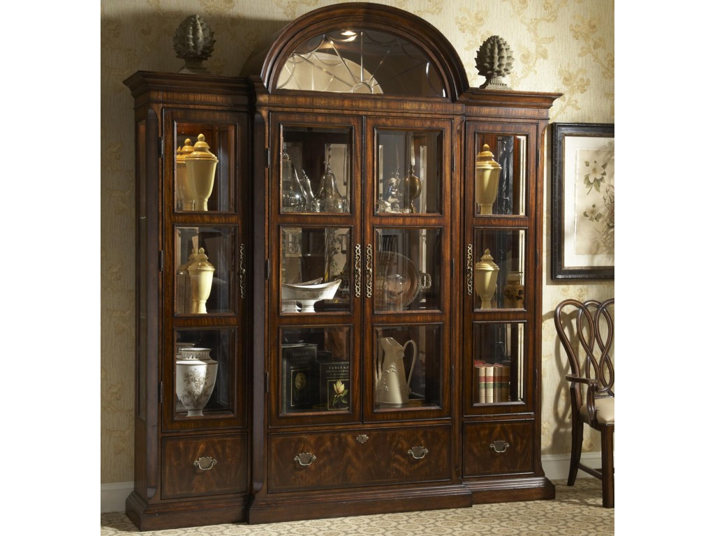 Fine Furniture Design Hyde ParkCurio China with Crown Top and Piers