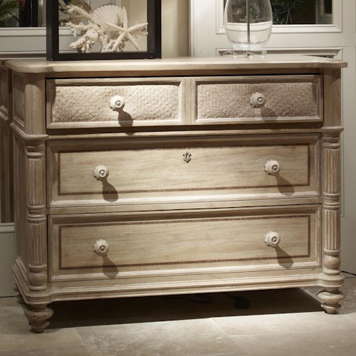 Fine Furniture Design Palm Island Tasman Single Dresser with 2 Drawers and 1 Drop Down Drawer