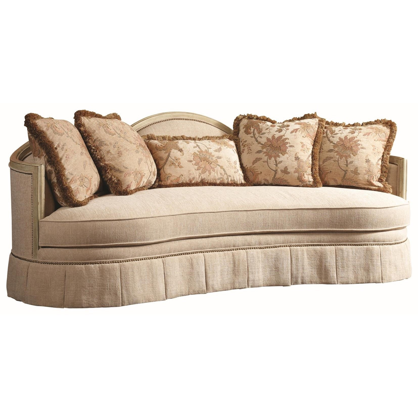 Michael Harrison Collection Protege Traditional Sofa With Skirted Base