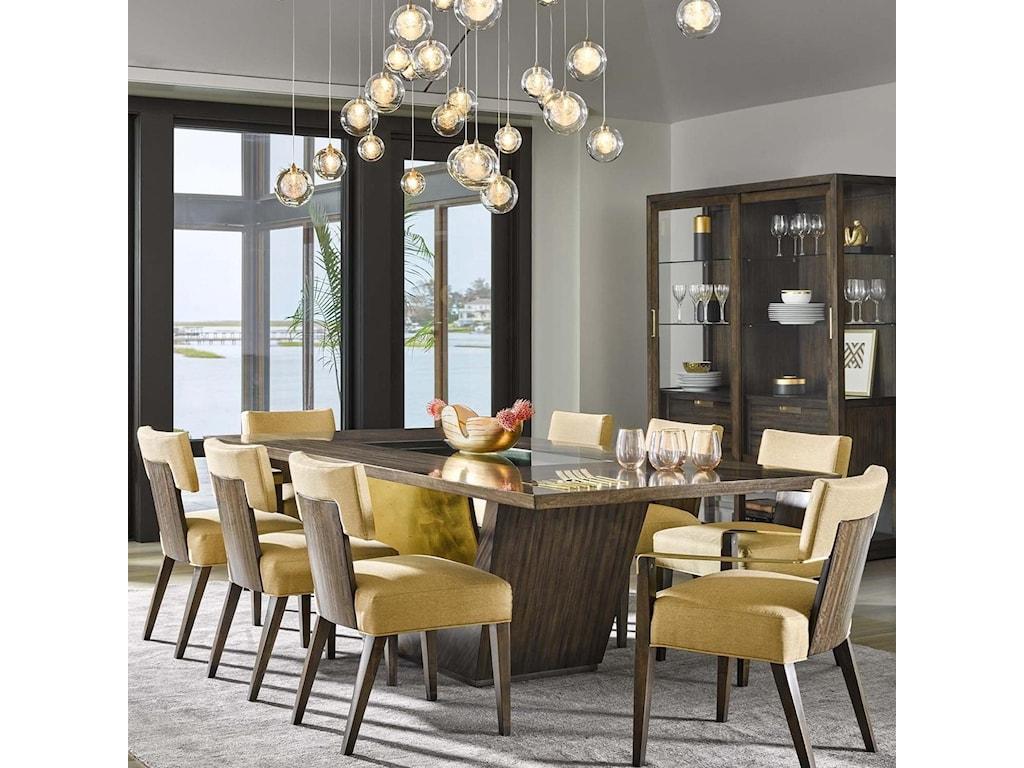 Belfort Signature AvantNine Piece Table and Chair Set