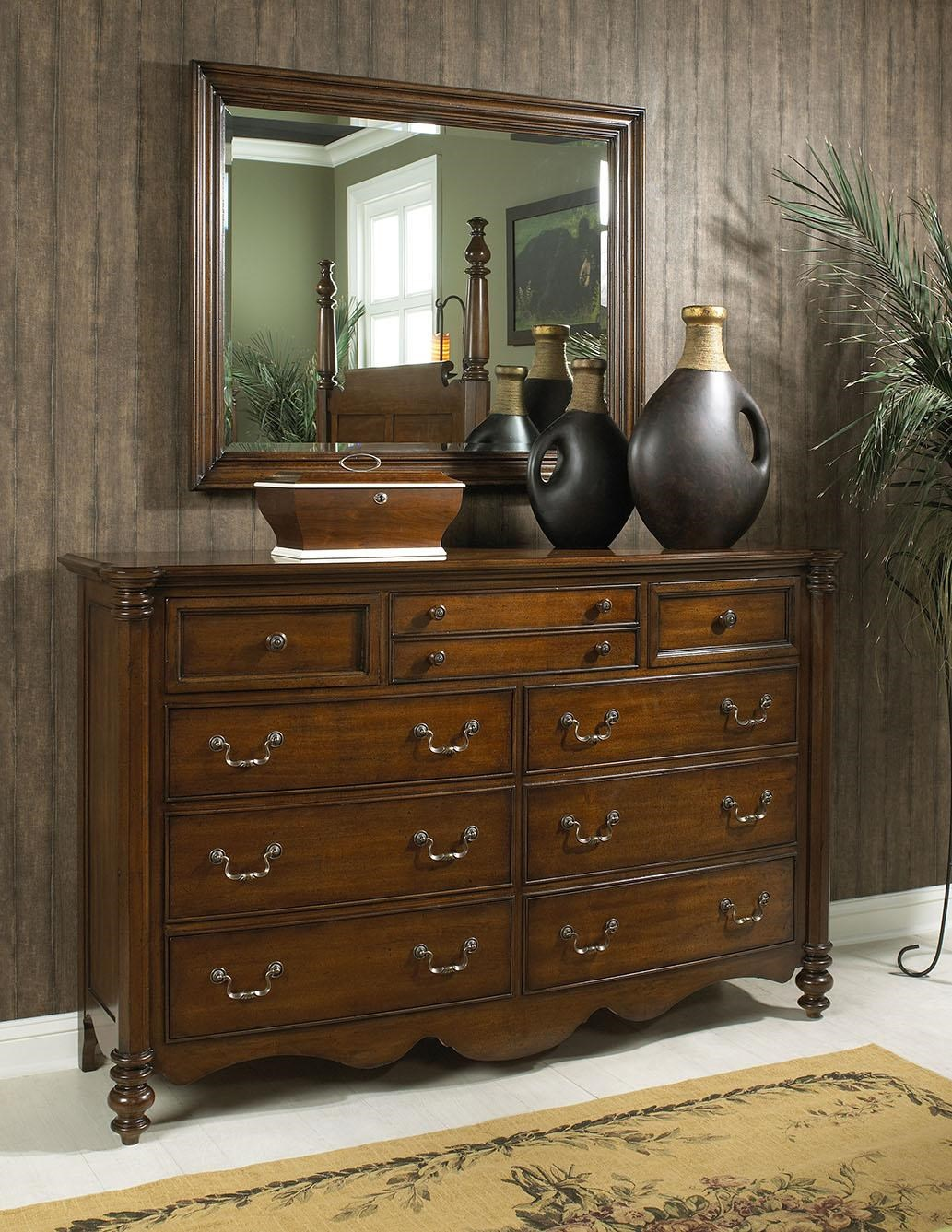 Fine Furniture Design Summer Home Elegant Dresser And Mirror Combo