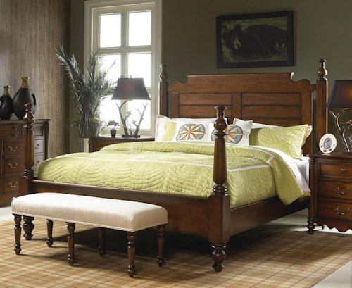 Fine Furniture Design Summer Home Casual Queen Post Bed