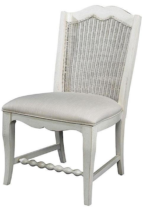 Fine Furniture Design Summer Home Wicker Back Side Chair