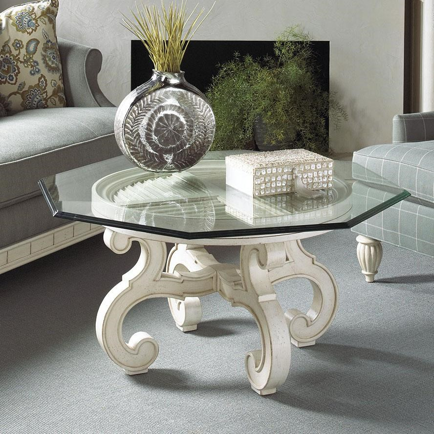 Michael Harrison Collection Summer Home Elegant Glass Top Cocktail Table