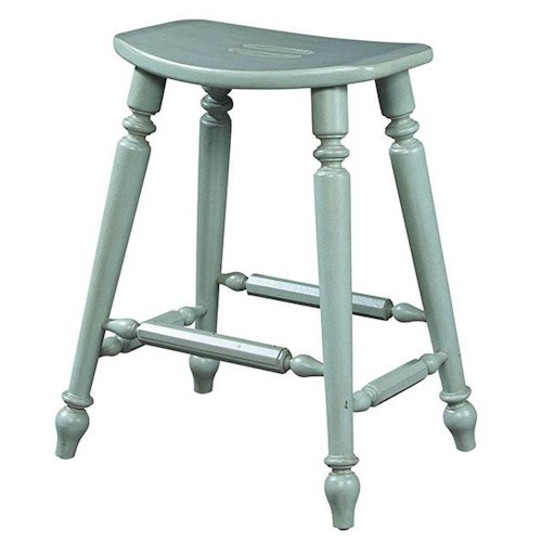 Michael Harrison Collection Summer Home Casual Saddle Counter Stool