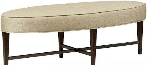 Fine Furniture Design Textures Marshall Bench with Upholstered Seating