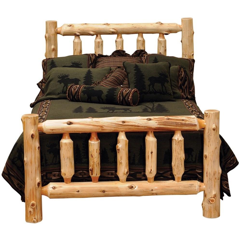 Fireside Lodge 100 Queen Traditional Cedar Log Bed Conlin S Furniture Panel Beds
