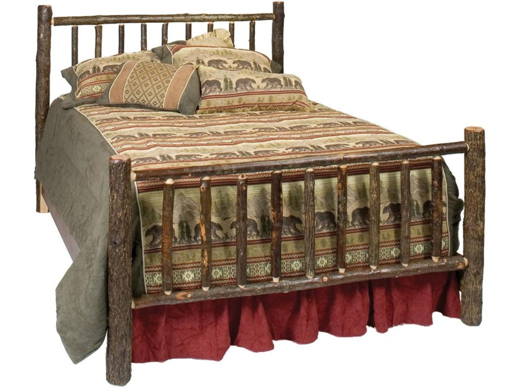 Fireside Lodge 80040Hickory Traditional Bed