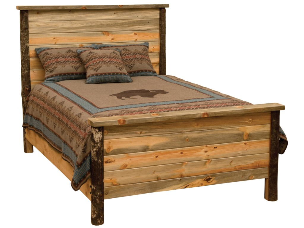 Fireside Lodge Blue Stain PineBlue Stain Pin Queen Bed