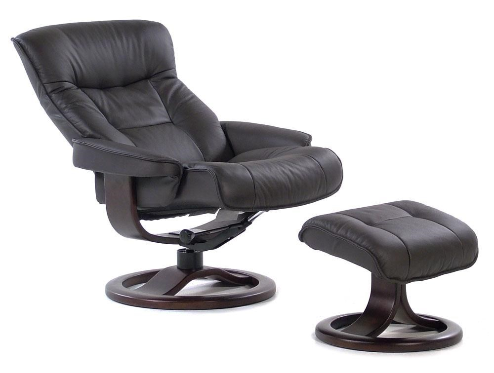 Bergen Large Contemporary Recliner / Ottoman : Nordic Havana By Fjords By  Hjellegjerde At Rotmans