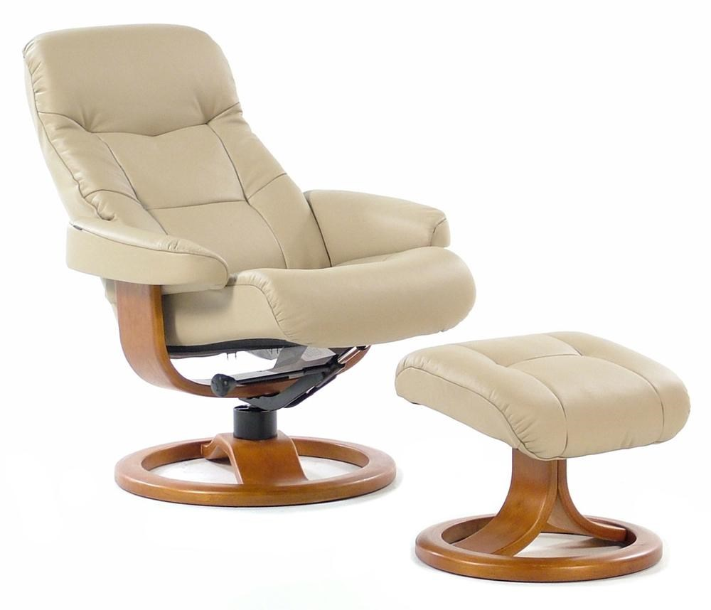 Fjords By Hjellegjerde Muldal Small Contemporary Recliner / Ottoman :  Nordic Sandel