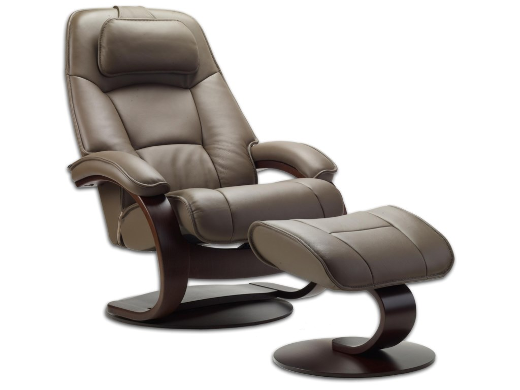 Fjords by Hjellegjerde AdmiralSmall Reclining Chair and Ottoman