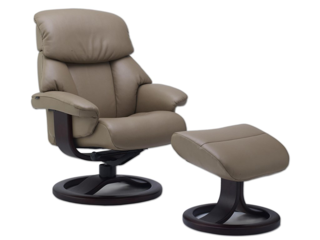 Fjords by Hjellegjerde Alfa 520Small Recliner and Ottoman Set