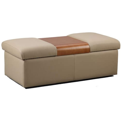 Fjords by Hjellegjerde Amsterdam Contemporary 2 Compartment Storage Ottoman
