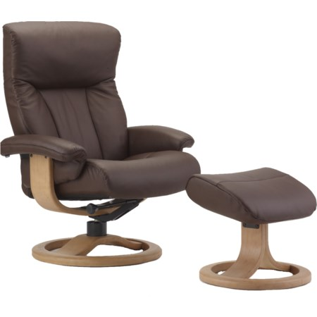 Large Recliner and Ottoman Set