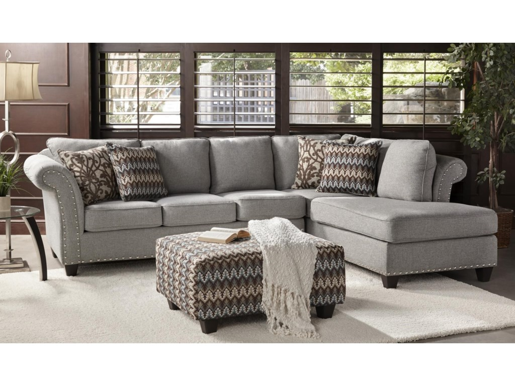 Flair 2300turqTwo Piece Chaise Sectional