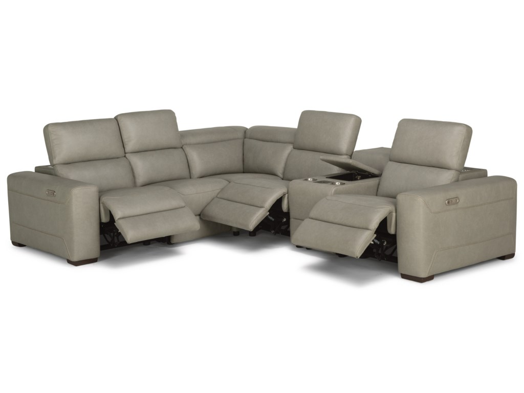 Flexsteel LexonSectional Reclining Sofa