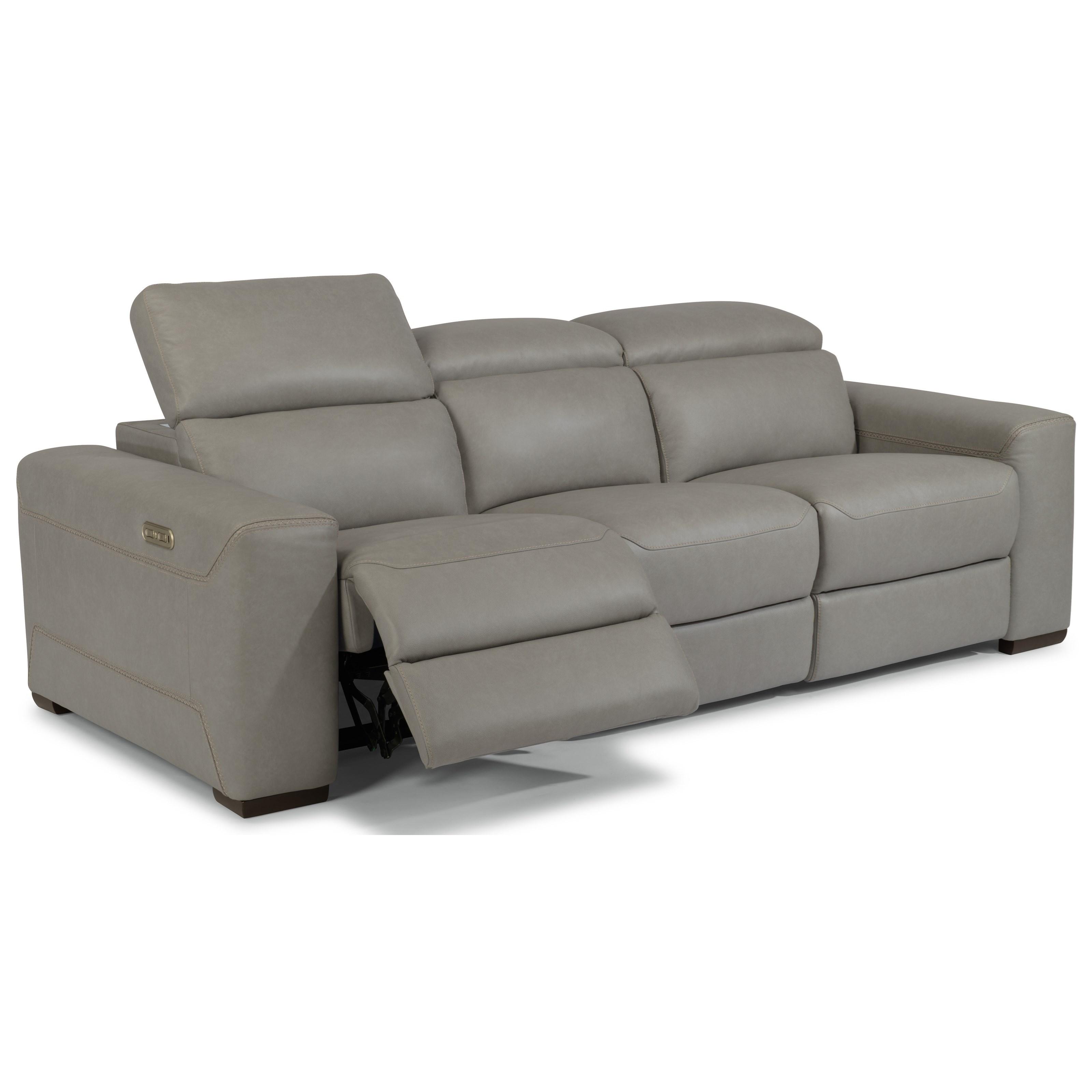 flexsteel lexon contemporary reclining sectional sofa with power rh dunkandbright com Power Reclining Sofa Power Reclining Sofa