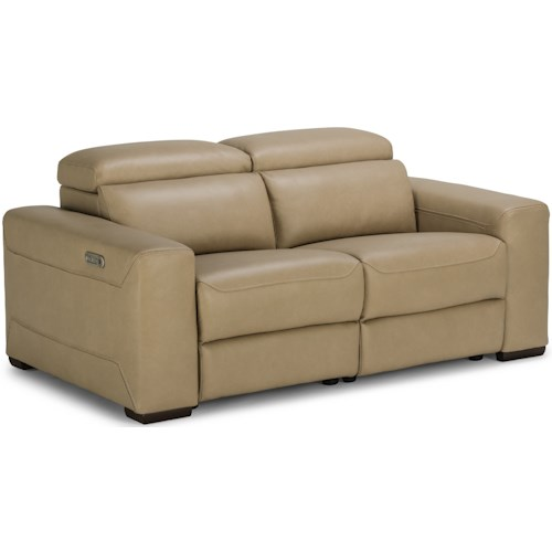 Flexsteel Lexon Contemporary Reclining Sectional Love Seat with Power Headrests