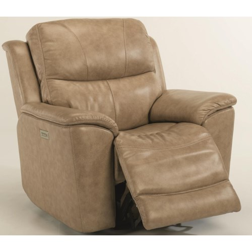 Flexsteel Cade Power Recline, Power Headrest & Power Lumbar Recliner
