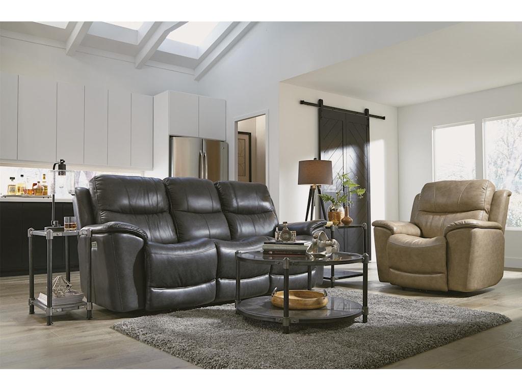 Flexsteel CadePower Recline, Headrest & Lumbar Sofa