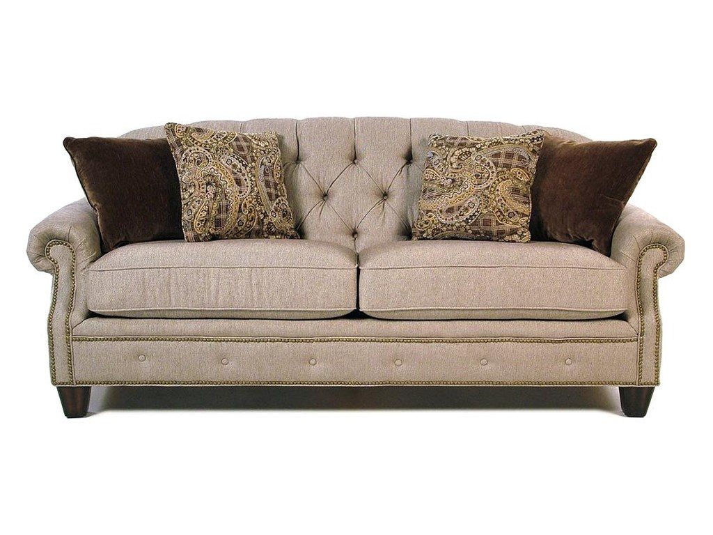 Champion Transitional On Tufted Sofa With Rolled Arms And Nailheads By Flexsteel At Rotmans
