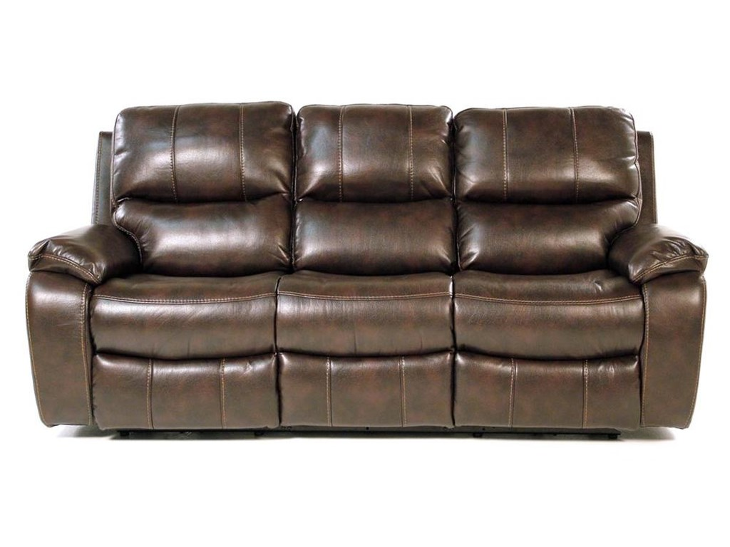 Flexsteel Monterey Double Reclining Power Sofa With Pillow Arms And