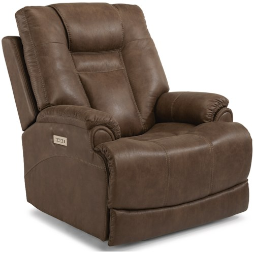 Flexsteel Marley Casual Power Recliner with Power Headrest & Power Adjustable Lumbar Support