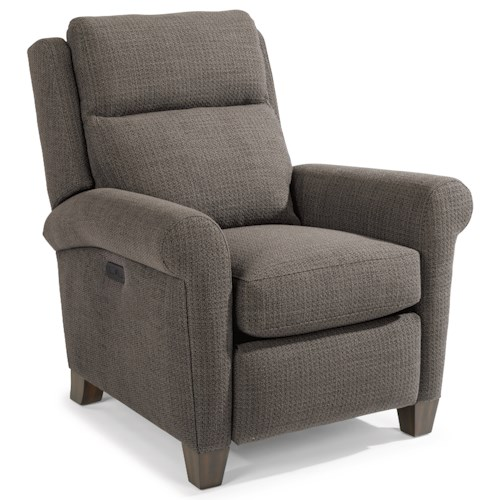 Flexsteel Abby Casual Power High-Leg Recliner with Power Headrests and USB Ports