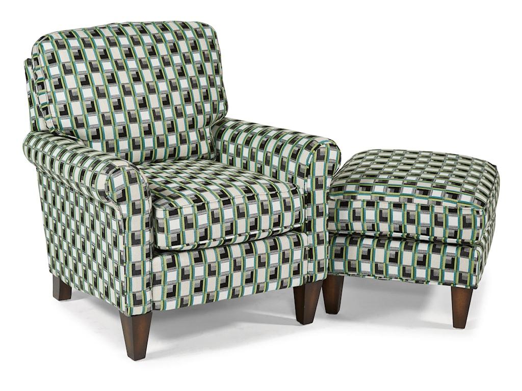 Flexsteel AccentsHarvard Chair & Ottoman