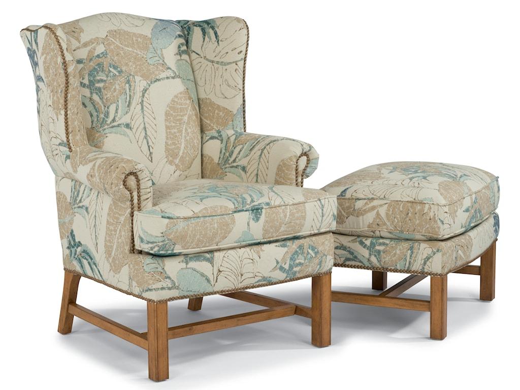 Flexsteel AccentsChancellor Chair and Ottoman