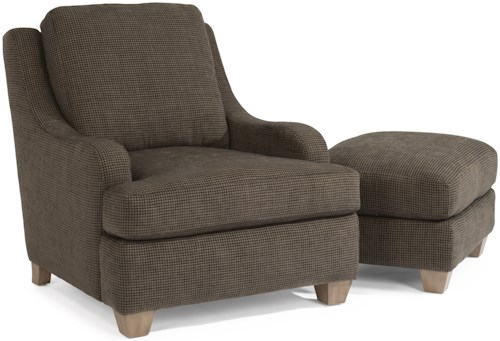 Flexsteel Accents Salem Lounge Chair and Ottoman Set