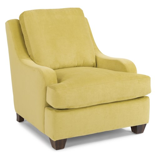 Flexsteel Accents Salem Lounge Chair with Sloped Arms