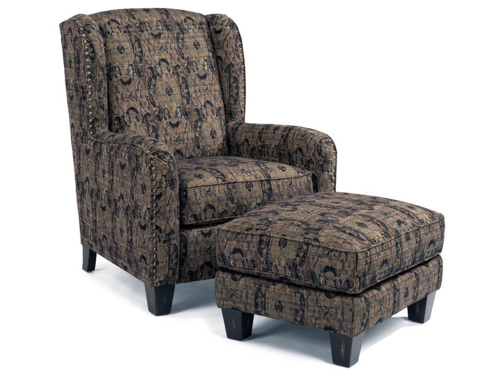 Flexsteel AccentsPerth Chair and Ottoman