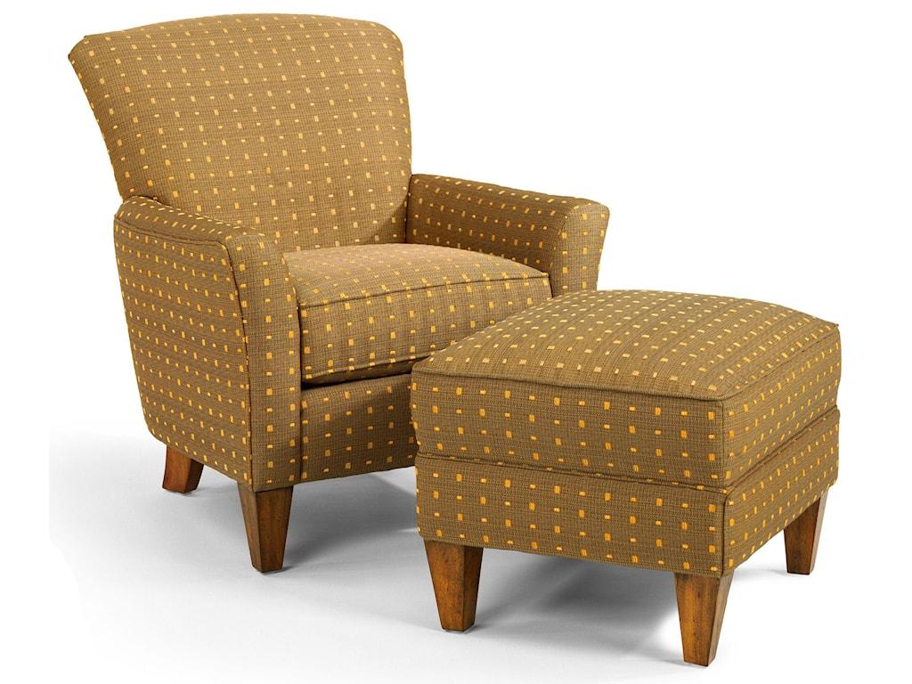 Flexsteel AccentsDancer Chair & Ottoman Set