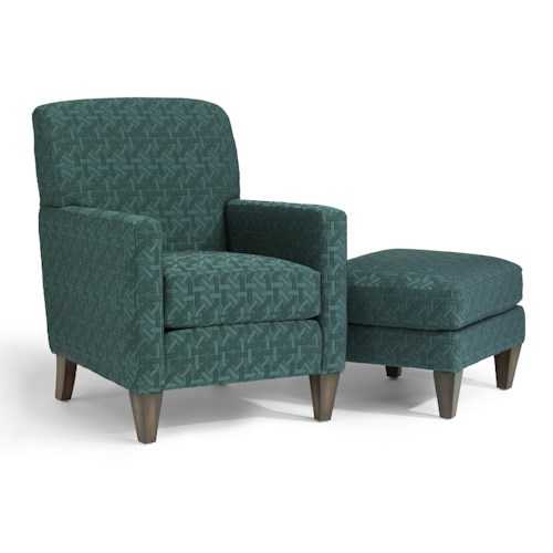 Flexsteel Accents Cute Chair and Ottoman