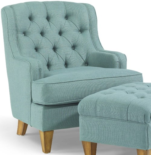 Flexsteel Accents Terrace Button-Tufted Chair with Track Arms