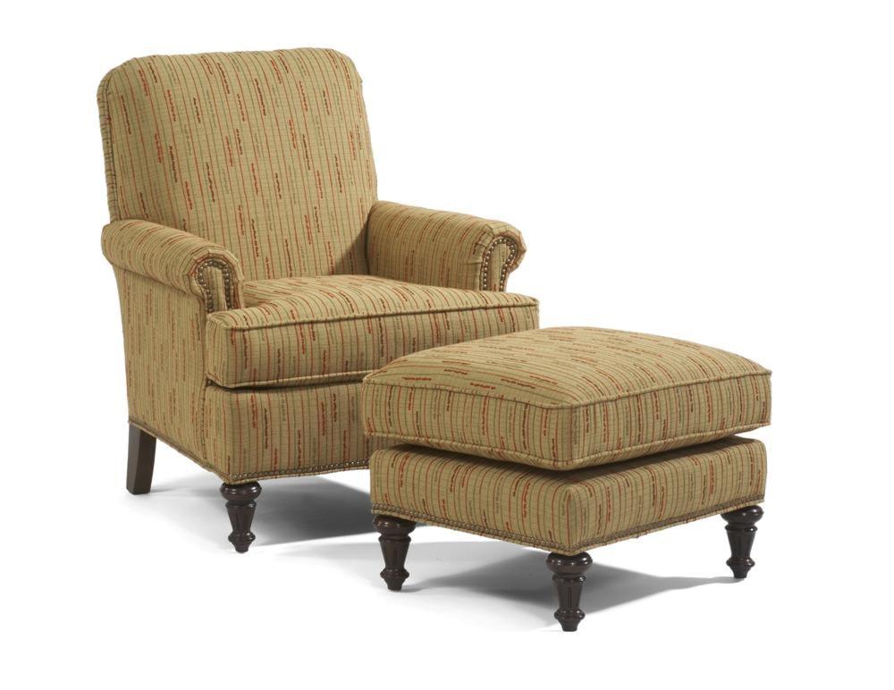 Flexsteel Accents Flemington Chair & Ottoman - Colder's ...
