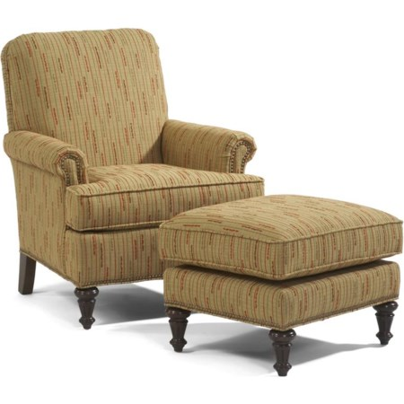 Flemington Chair & Ottoman