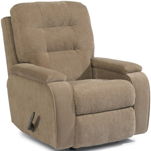 Flexsteel Accents Kerrie Swivel Glider Recliner with Channeled Back