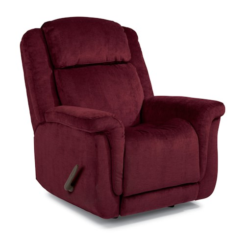 Flexsteel Accents Updraft Swivel Glider Recliner with Plush Pillow Arms