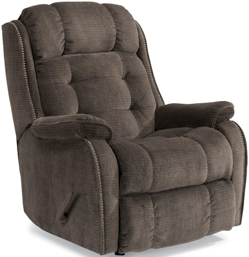 Flexsteel Accents Cassidy Rocker Recliner with Transitional Detailing