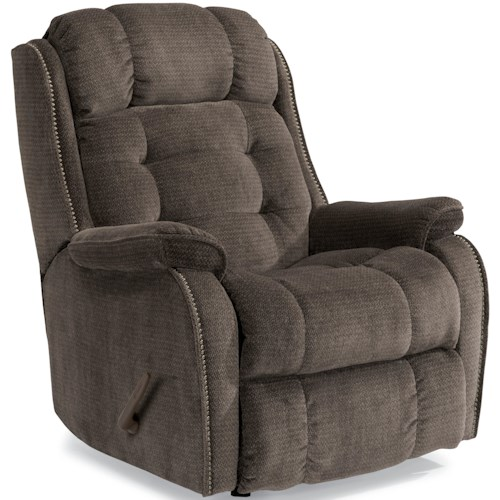 Flexsteel Accents Cassidy Swivel Glider Recliner with Transitional Detailing