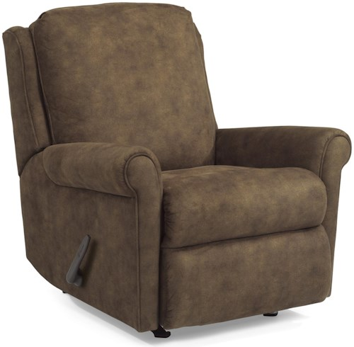 Flexsteel Accents Macy Wall Recliner with Rolled Arms and Waterfall Cushion