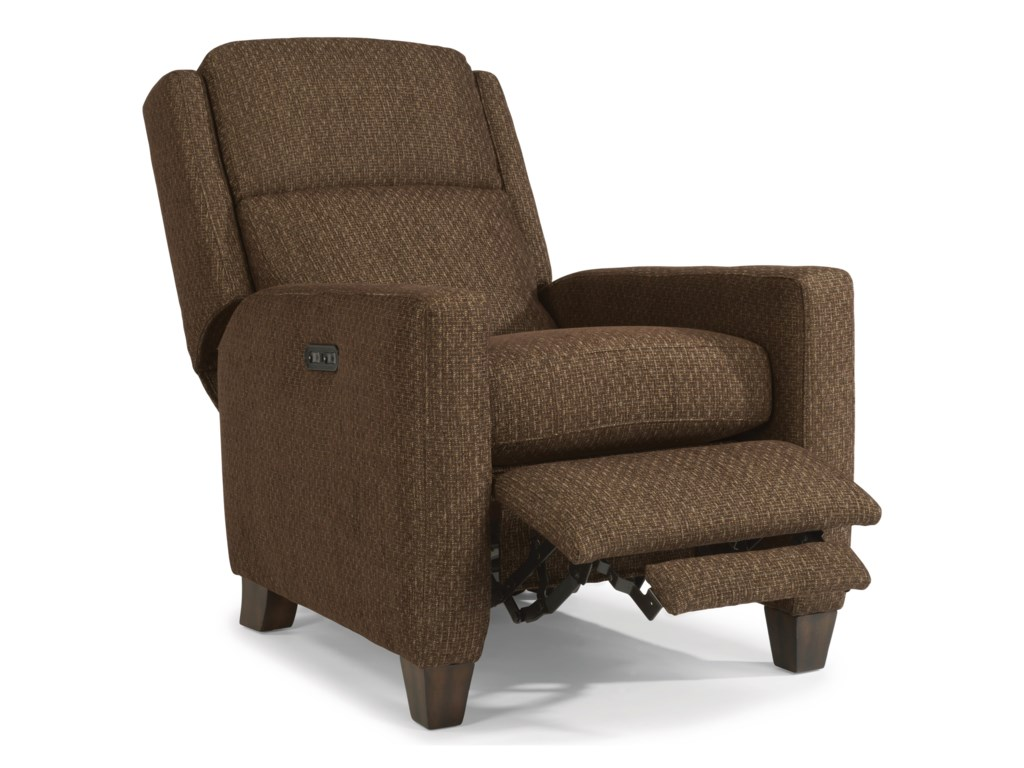 Flexsteel AccentsPower High-Leg Recliner with Power Headrests