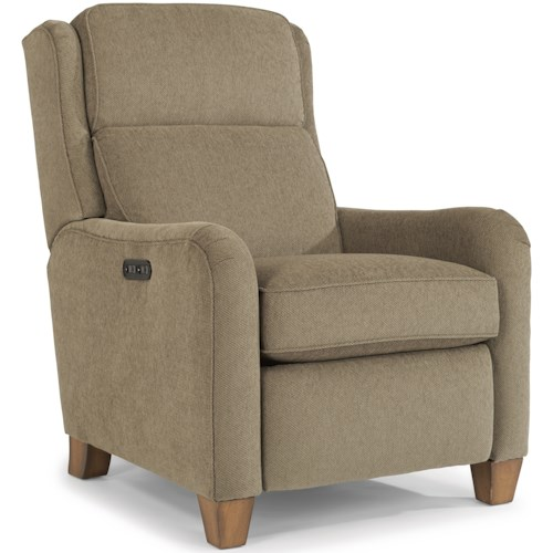Flexsteel Accents Power High Leg Recliner with Power Adjustable Headrest and USB Port